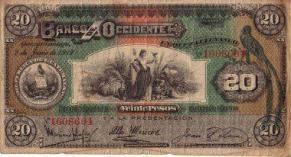 Billete de 20 pesos 1949 foto por Eventos Teaz - El Origen de la Moneda en Guatemala