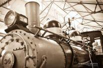 Locomotora 34 en el museo del Ferrocarril de Guatemala foto por Rodrigo Motta - Galería – Fotos del Ferrocarril de Antaño en Guatemala