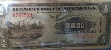 Moneda 50 centavos foto por Manuel Flores - El Origen de la Moneda en Guatemala