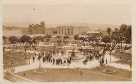 Parque central de la ciudad de Guatemala año 1936 aproximadamente por Axel J. Moreira - Galería – Fotos de Guatemala de Antaño