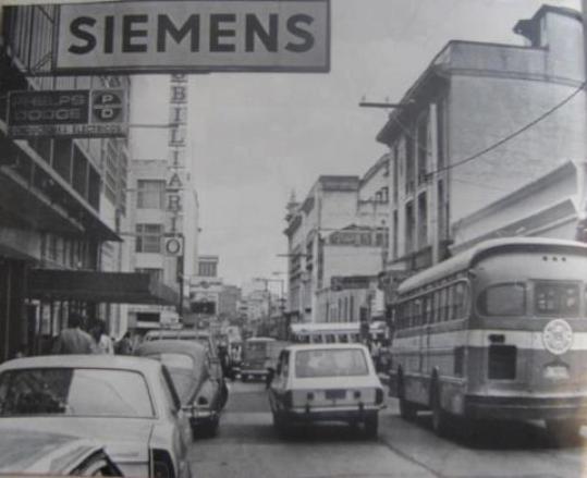 Recuerdos de Guatemala de antaño, la Zona 1, Octava avenida entre la 10 y 11 calle en 1977 - foto por Jose L. Lopez G.
