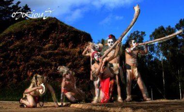 Baktun 13, desencientes Mayas celebrando - por Avelino Osorious