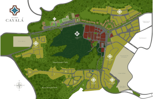 cayala mapa - Ciudad Cayalá en la ciudad de Guatemala