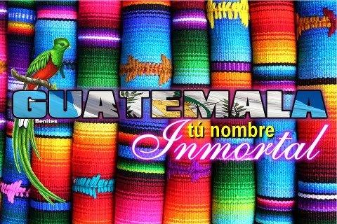 Arte gráfico de Guatemala composición por Enrique Escobar - El origen del nombre Guatemala