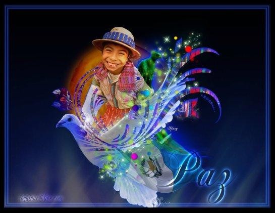 Arte gráfico de Guatemala, paz - composición por Marg Che