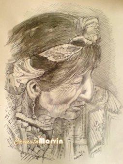 Caricaturas Marvin E. Vasquez Rostro Maya - Galería - Arte Gráfico de Temas de Guatemala