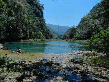 Vista desde los manantiales de Semuc época seca - Guía Turística - Semúc Champey, Alta Verapaz