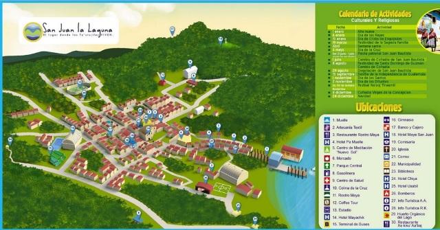 Mapa turístico de San Juan la Laguna