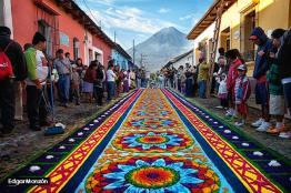 Alfombra foto por Edgar Monzon - Galeria de Fotos de Guatemala por Edgar Monzón