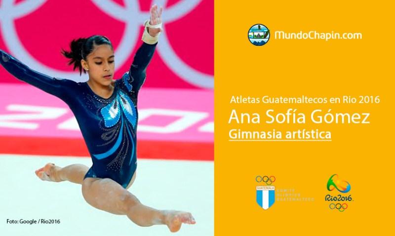 ana sofia gomez rio2016 mundochapin - Los 21 atletas guatemaltecos en Río 2016