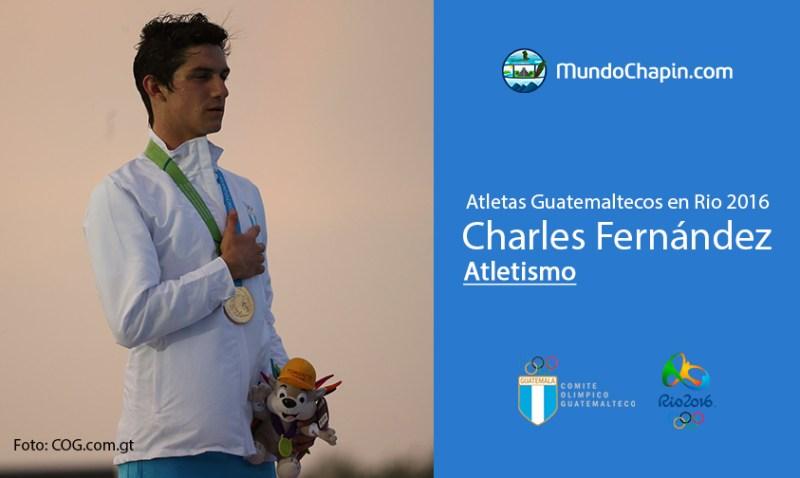 charles fernandez rio2016 mundochapin - Los 21 atletas guatemaltecos en Río 2016
