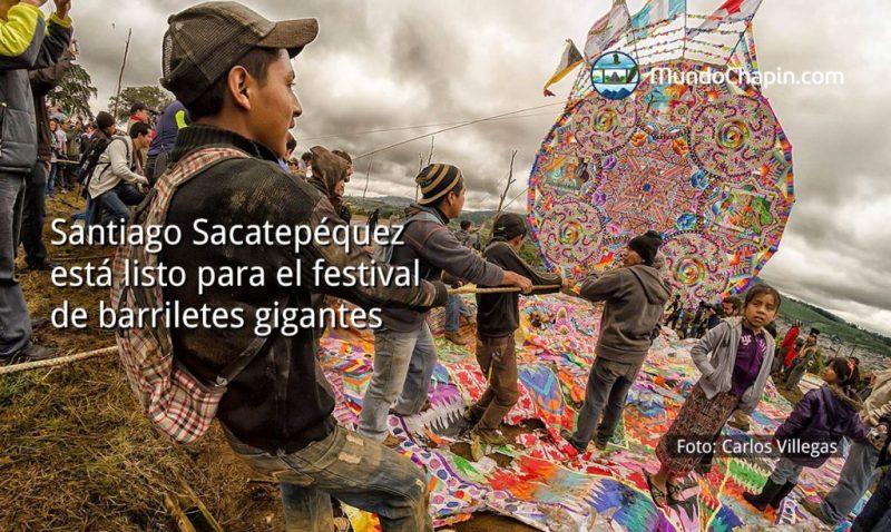 Santiago Sacatepéquez está listo para el festival de barriletes gigantes