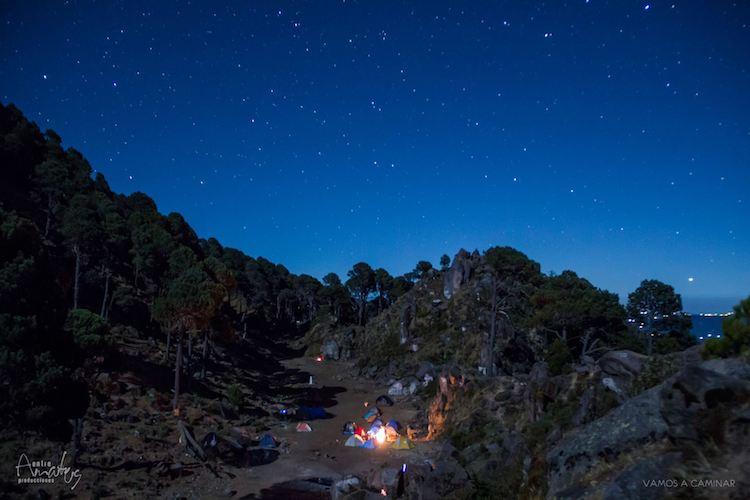campamento en el volcan tacana foto por entre amates - Guía de los volcanes de Guatemala