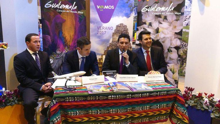 inguat wamos air 2 - Firman convenio de turismo entre Guatemala y Europa con WAMOS Air