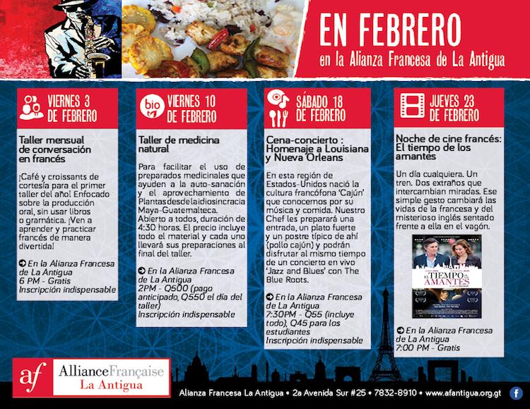 0e7d1f20 ac9c 4d77 83e0 65fc6743cc03 - Febrero en la Alianza Francesa de La Antigua Guatemala