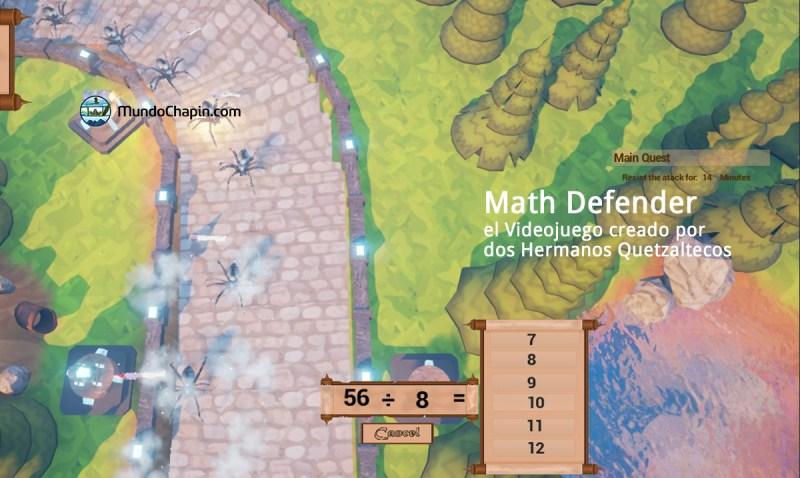 Math Defender, el videojuego creado por dos hermanos quetzaltecos