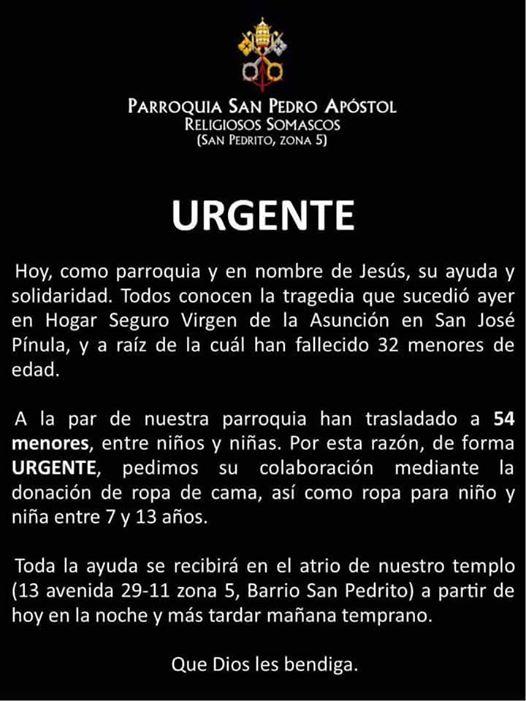 2 - ¿Y tú qué harás para apoyar a los niños del Hogar Virgen de la Asunción?