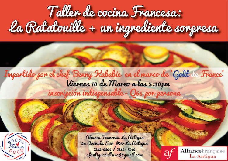 taller ratatouille 1 - Marzo en la Alianza Francesa