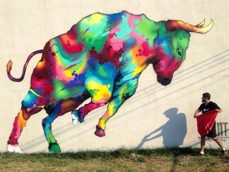 toro villa nueva 2017 - El arte urbano de Spaint se luce en Miami