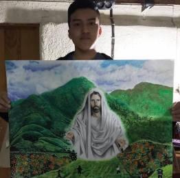 15380765 1811778775777097 505092203922125955 n - Retratos idénticos de la mano de un joven chapín