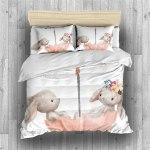 Funda nórdica de cama con conejitos