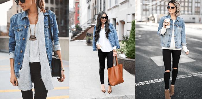 look jaqueta jeans outono