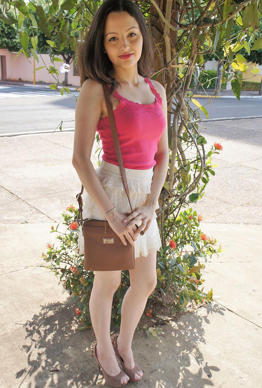 Look do Dia Blusa Pink