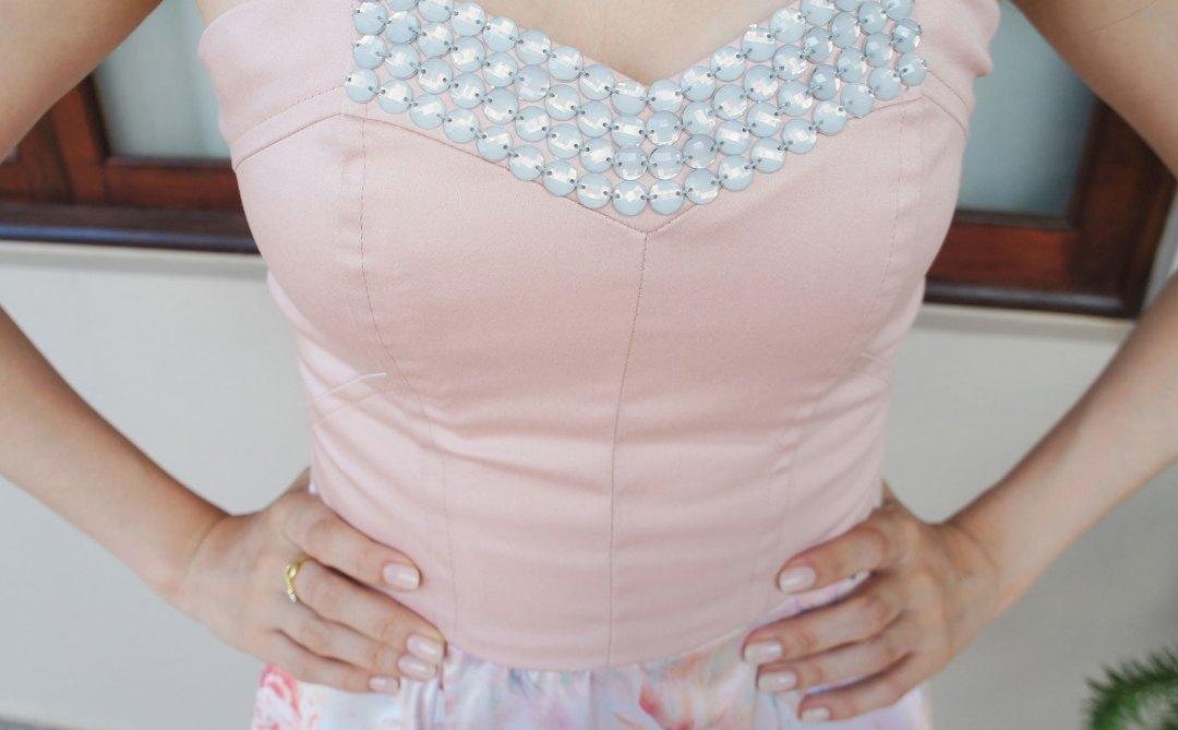Look Festa Vestido Florido Rosa