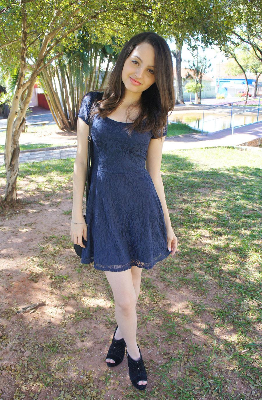 Vestido de Renda Código Girls Look