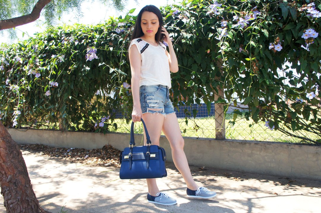 Look Shorts Jeans e T-Shirt