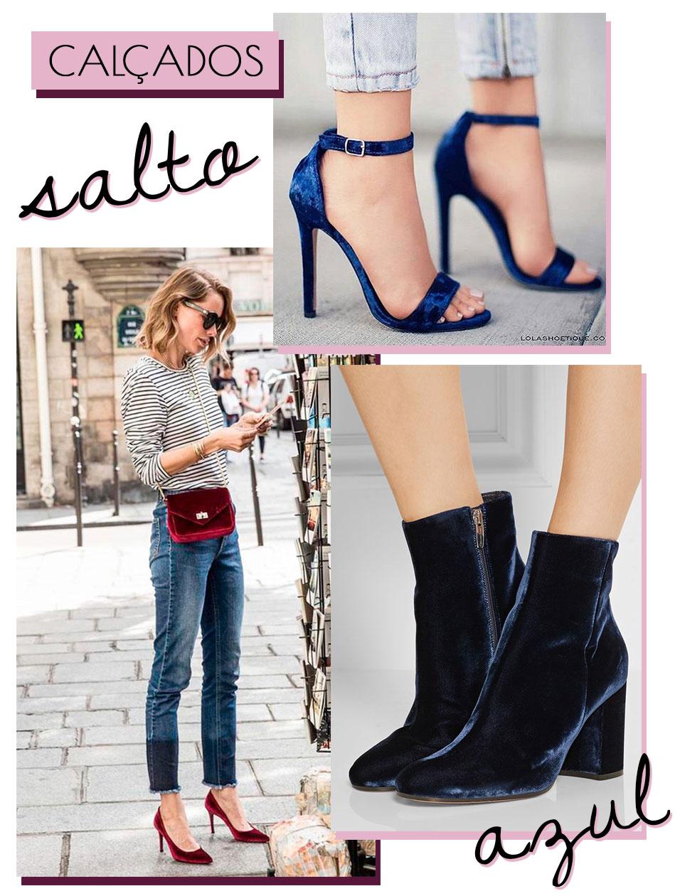 Sapato Veludo