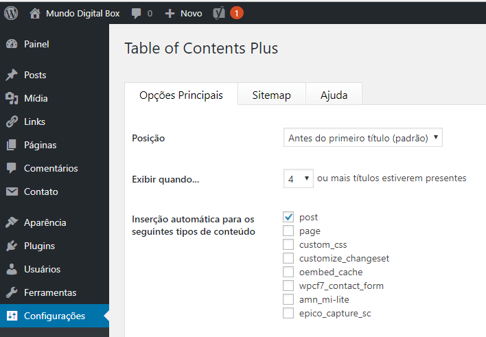 table of content plus