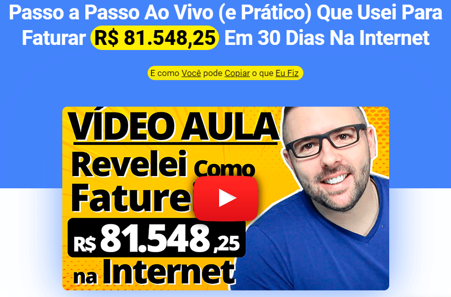 vídeo aula ao vivo