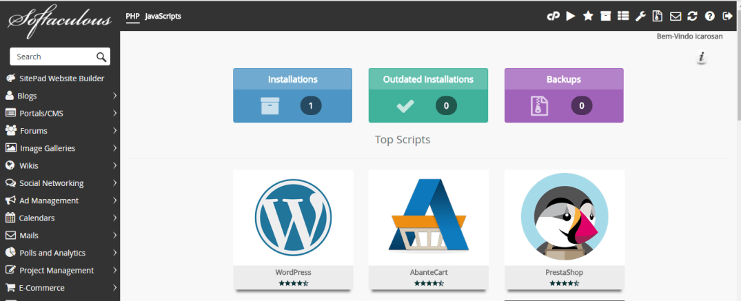 Instalar o WordPress