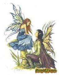 Ilustración de pareja de Hadas (chico y chica)