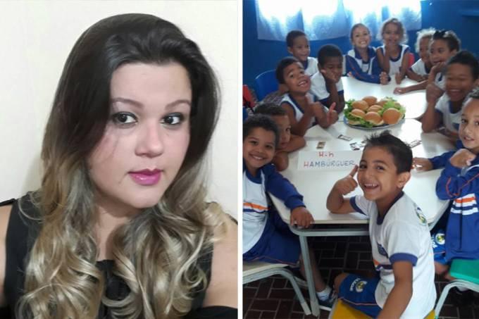 Professora realiza sonho de alunos com 'hamburgada' em colégio