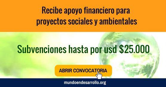 apoyo financiero para proyectos sociales