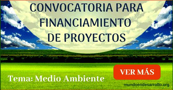 convocatoria para financiamiento de proyectos