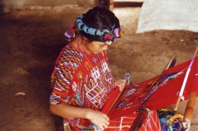 Guatemalan Woman Weaving