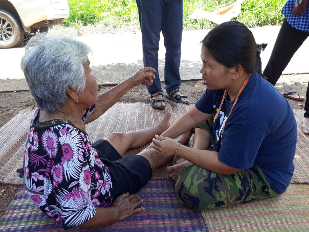 Member of Lokgatat checking on an elder