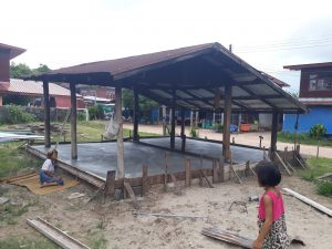 laying foundation for new home in thailand