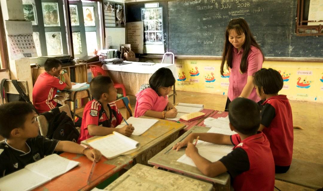 Thai teacher teaching in classroom