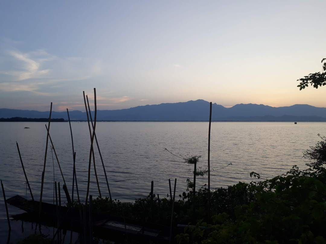 Phayao lake at sunset