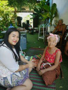 volunteer Noom visits elders yaai and noan