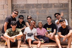 adopt an elder thailand groups with elders post for a photo