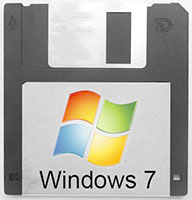Windows 7 en disquetes