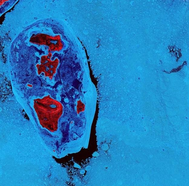 SPICER ISLANDS, NO CANADÁ (FOTO: USGS / NASA)