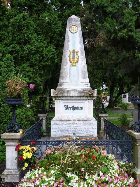 Viena Áustria Cemitério Beethoven Mundo Indefinido