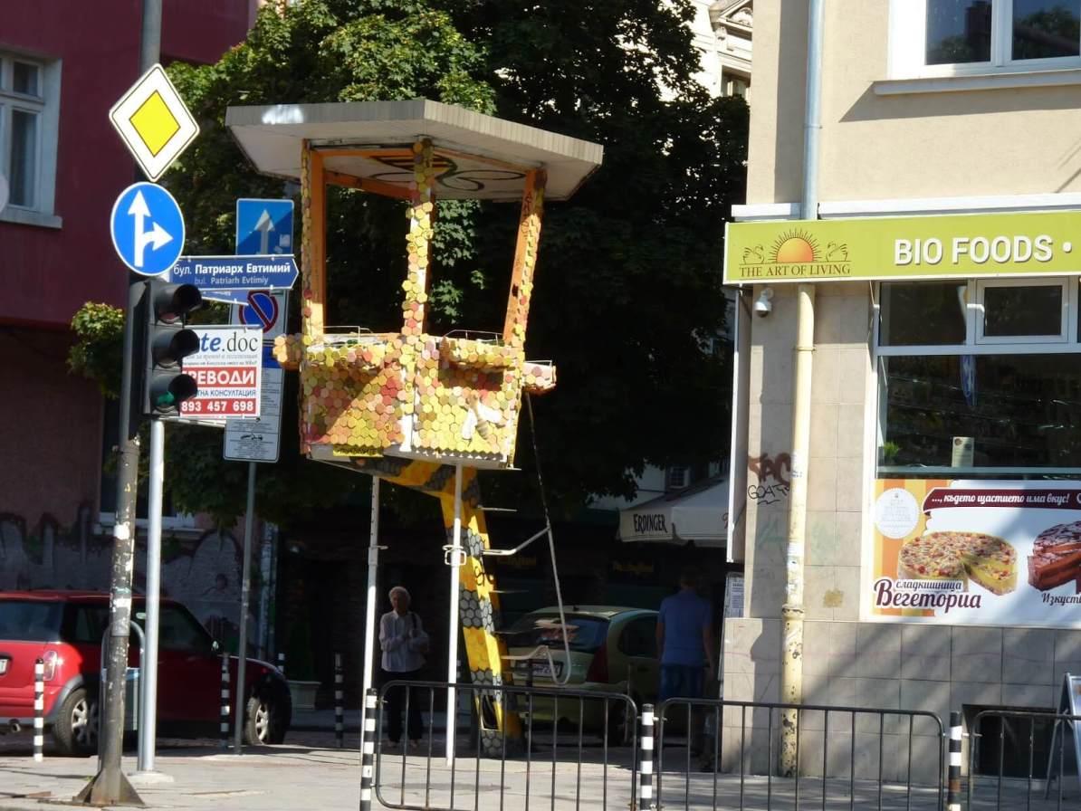 Sófia Bulgária torre de trânsito 02 Mundo Indefinido