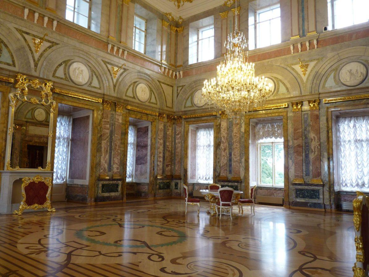 Palácio de Mármore interior São Petersburgo Rússia Mundo Indefinido